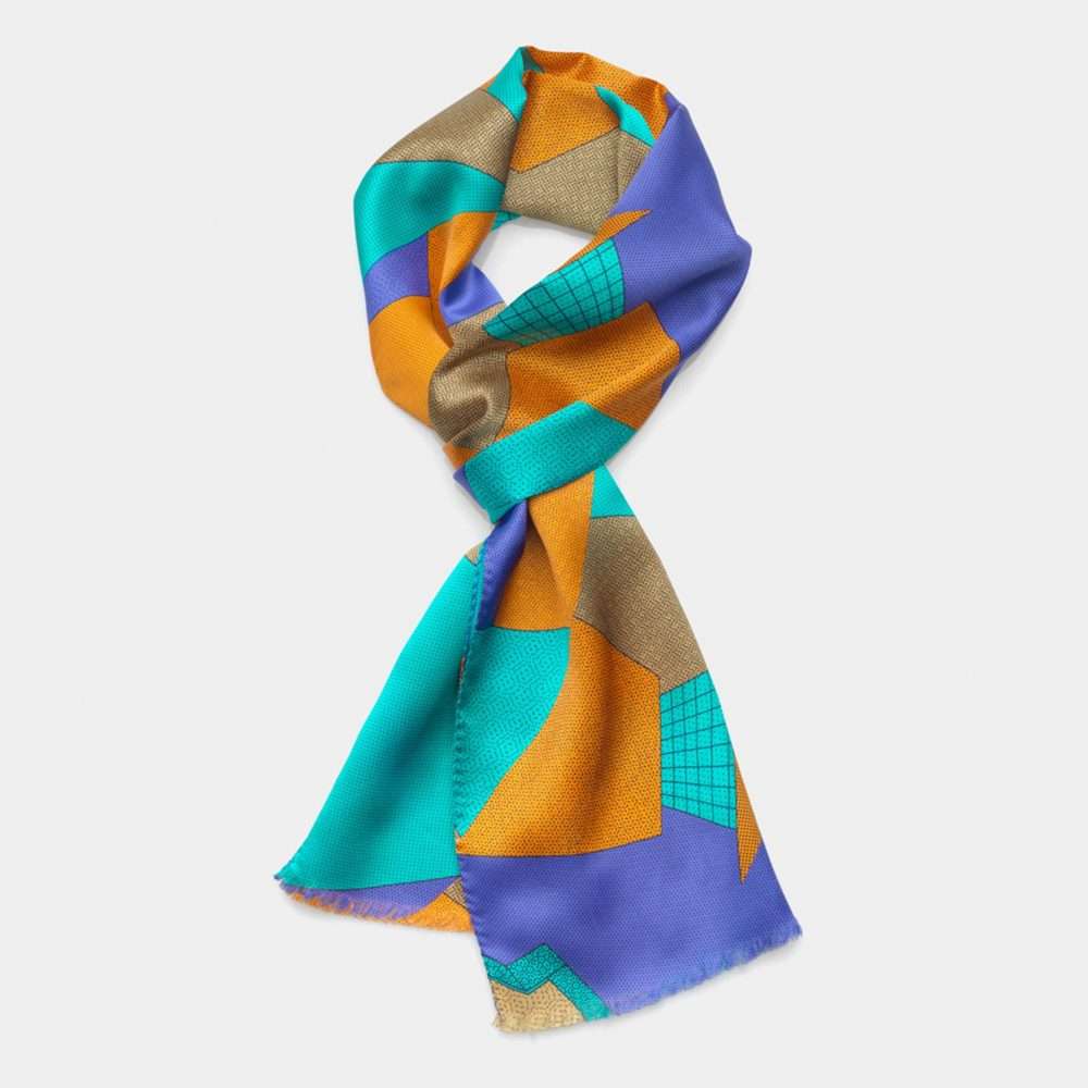 Scarf Light Blue-Russet