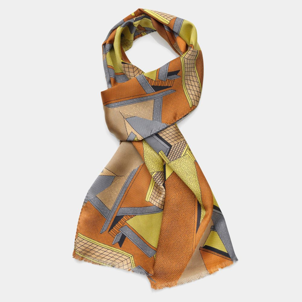 Scarf Yellow-Brown