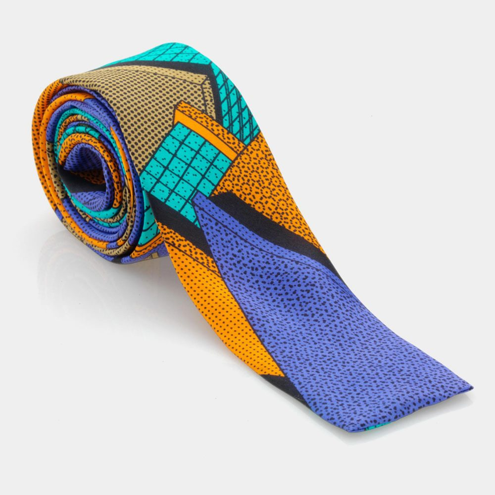 Tie Light Blue-Russet