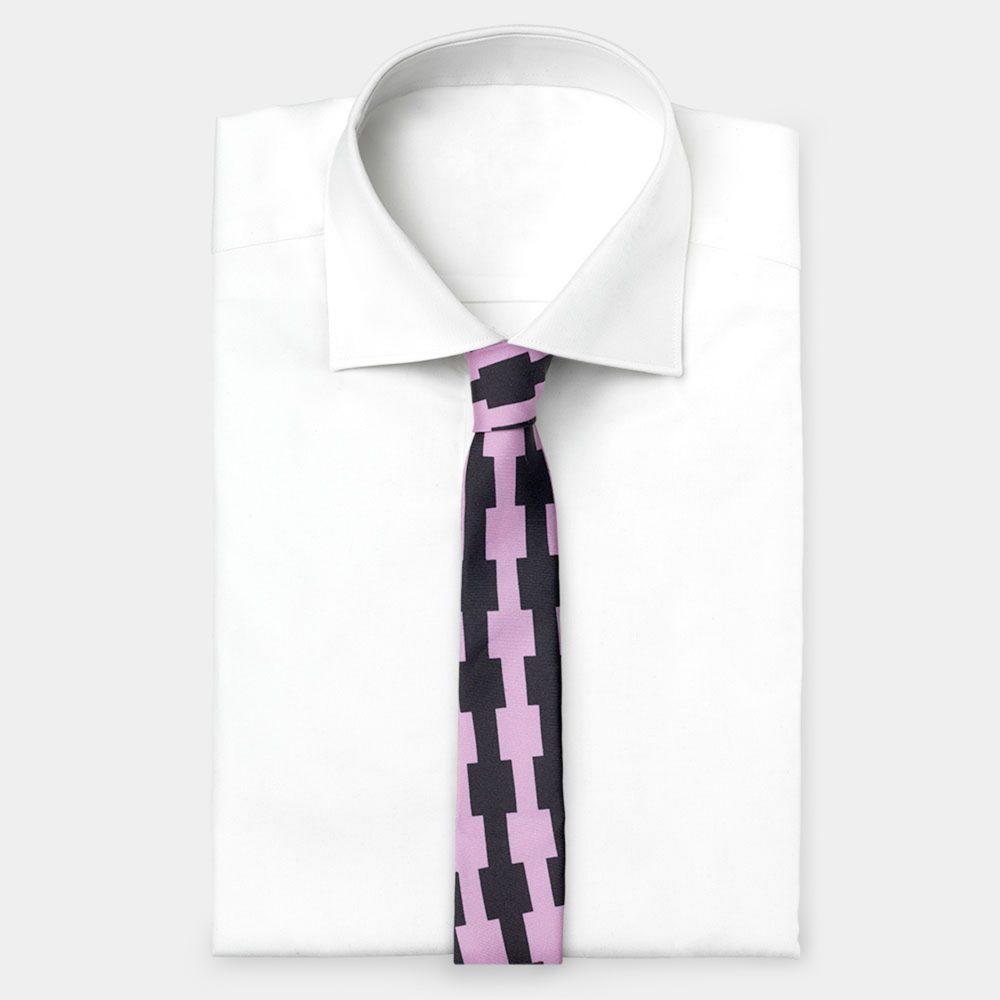 Tie Pink-Black